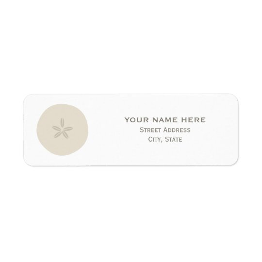 Sand Dollar Wedding Address Label