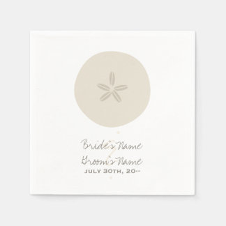 Sand Dollar Wedding Napkins Paper Serviettes