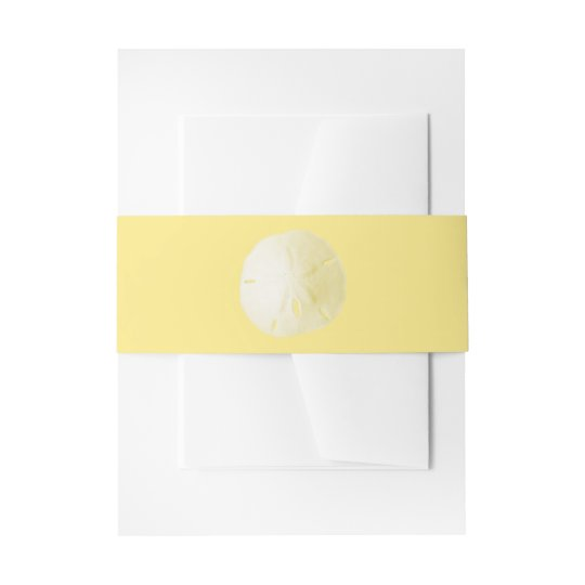 Sand Dollar Yellow Invitation Belly Band