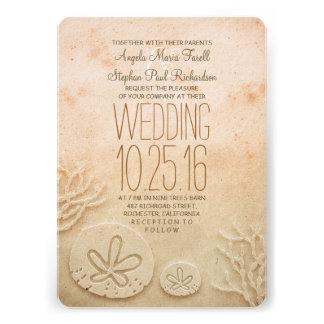 Sand dollars beach wedding invitations invitations