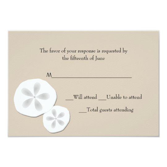Sand Dollars Wedding Response Card