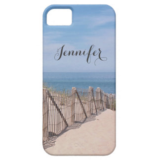 Sand dune and beach fence at Race Point Cape Cod iPhone 5 Case
