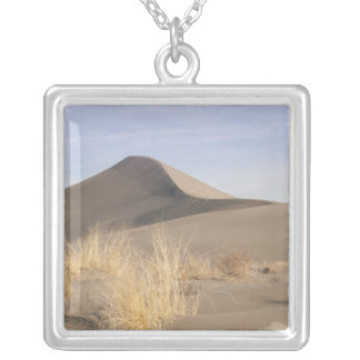 Sand dune formations. Bruneau Dunes State Park 2 Silver Plated Necklace