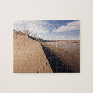 Sand dune formations. Bruneau Dunes State Park Jigsaw Puzzle