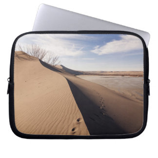 Sand dune formations. Bruneau Dunes State Park Laptop Sleeve