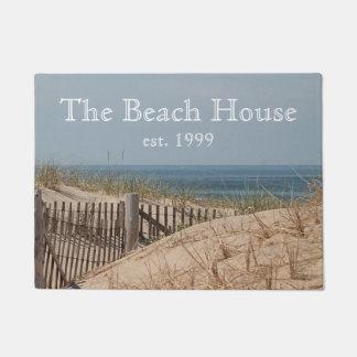 Sand dunes and beach fence doormat