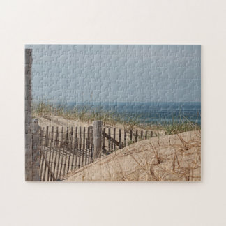 Sand dunes and beach fence puzzles