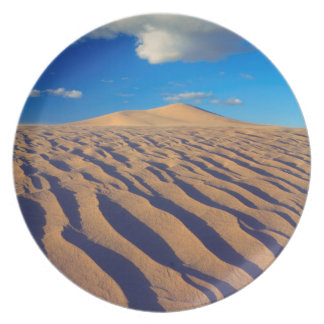 Sand Dunes and Clouds Plate