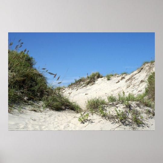 Sand Dunes at Ocracoke Poster