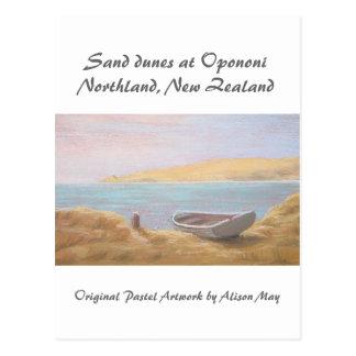 Sand dunes at Opononi, Northland, New Zealand Postcard
