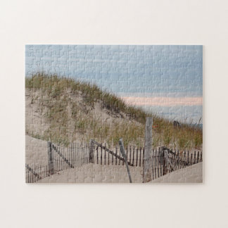 Sand dunes at Race Point, Cape Cod Jigsaw Puzzle