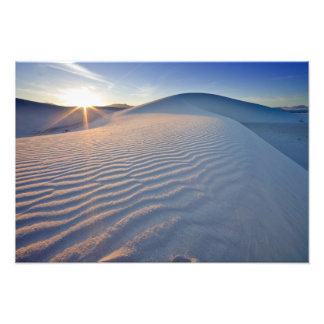 Sand dunes at White Sands National Monument in 5 Photo