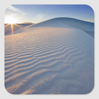 Sand dunes at White Sands National Monument in 5 Square Sticker