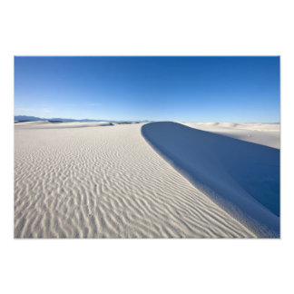 Sand dunes at White Sands National Monument in Photo Print
