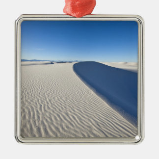 Sand dunes at White Sands National Monument in Silver-Colored Square Decoration