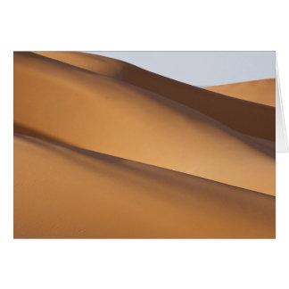 Sand dunes, Sahara desert, Morocco 2 Card