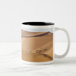 Sand dunes, Sahara desert, Morocco Two-Tone Coffee Mug