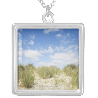 Sand dunes silver plated necklace