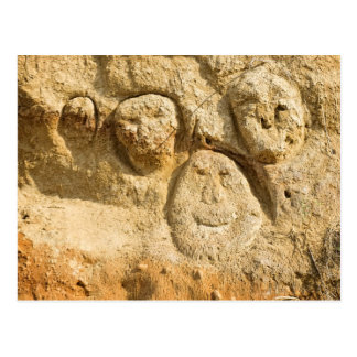 Sand Faces Postcard