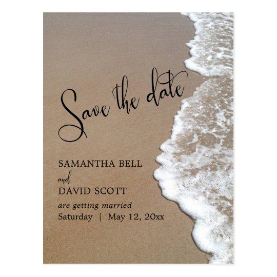 Sand & Foam Beach Wedding Save the Date