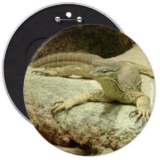 Sand goanna 6 cm round badge