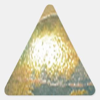 sand, gold green triangle sticker