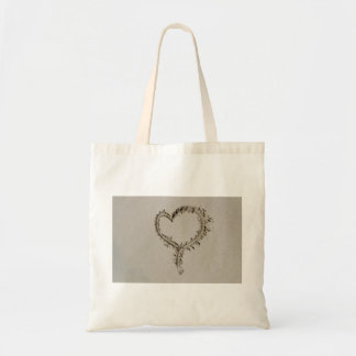 Sand Heart Tote Bags