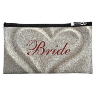 Sand Heart Bridal Cosmetic Bag
