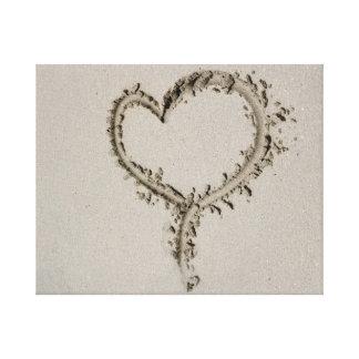 Sand Heart Gallery Wrap Canvas