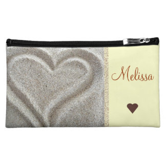 Sand Heart Cosmetic Bag
