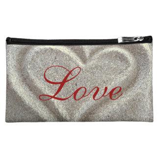 Sand Heart Cosmetic Bag