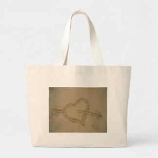 Sand Heart Jumbo Tote Bag