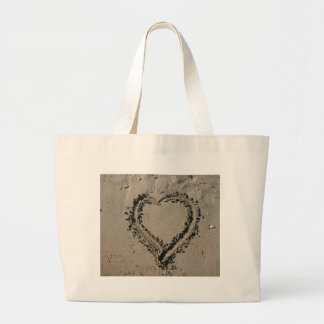 Sand Heart Large Tote Bag