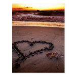 Sand Heart Postcard