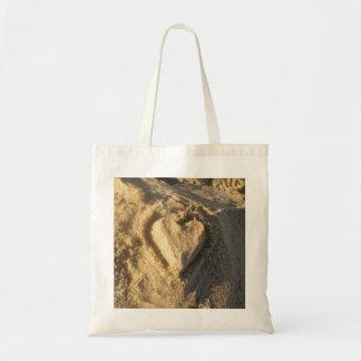 Sand Heart Tote Bag