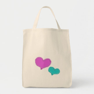 Sand Hearts Grocery Tote Tote Bags
