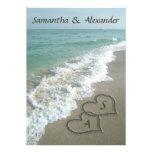 Sand Hearts Initials, Beach Destination Wedding