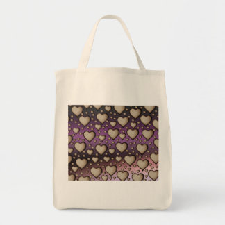 Sand Hearts on purple Background Bags