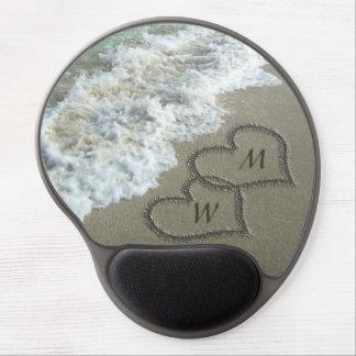 Sand Hearts on the Beach, Custom Gel Mouse Pad