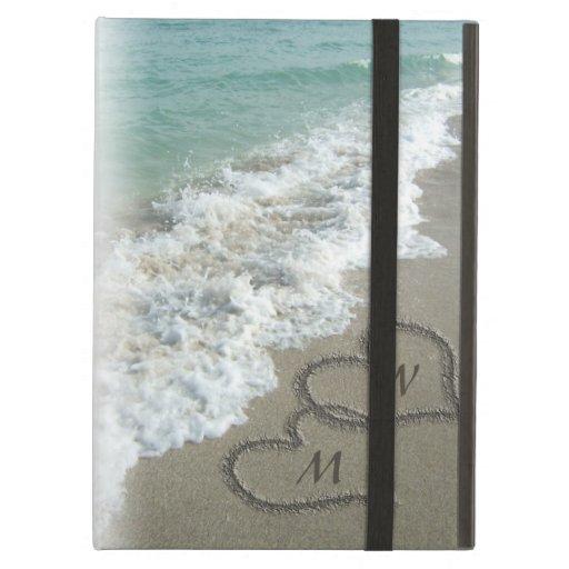 Sand Hearts on the Beach, Custom iPad Folio Case