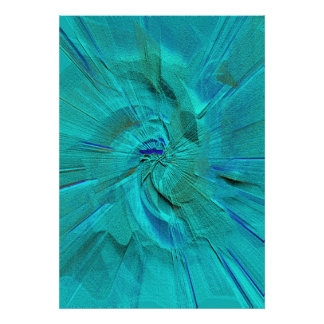 Sand in Blue and Green Canvas Poster