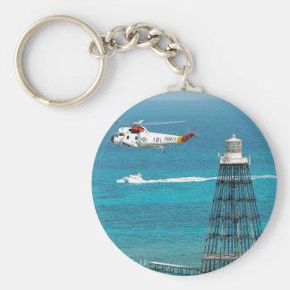Sand Key Lighthouse Basic Round Button Key Ring