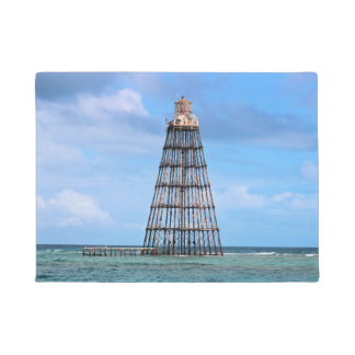 Sand Key Lighthouse, Florida Keys Door Mat