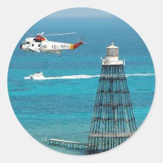 Sand Key Lighthouse Round Sticker