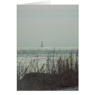 Sand Lighthouse Gulf Coast greeting card