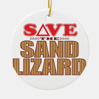 Sand Lizard Save Christmas Ornament