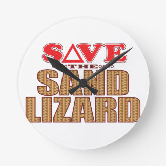 Sand Lizard Save Round Clock
