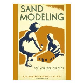 Sand Modeling for Younger Children Postcard