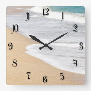 Sand of the beach square wall clock
