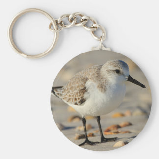 Sand Piper and Seashells Key Ring